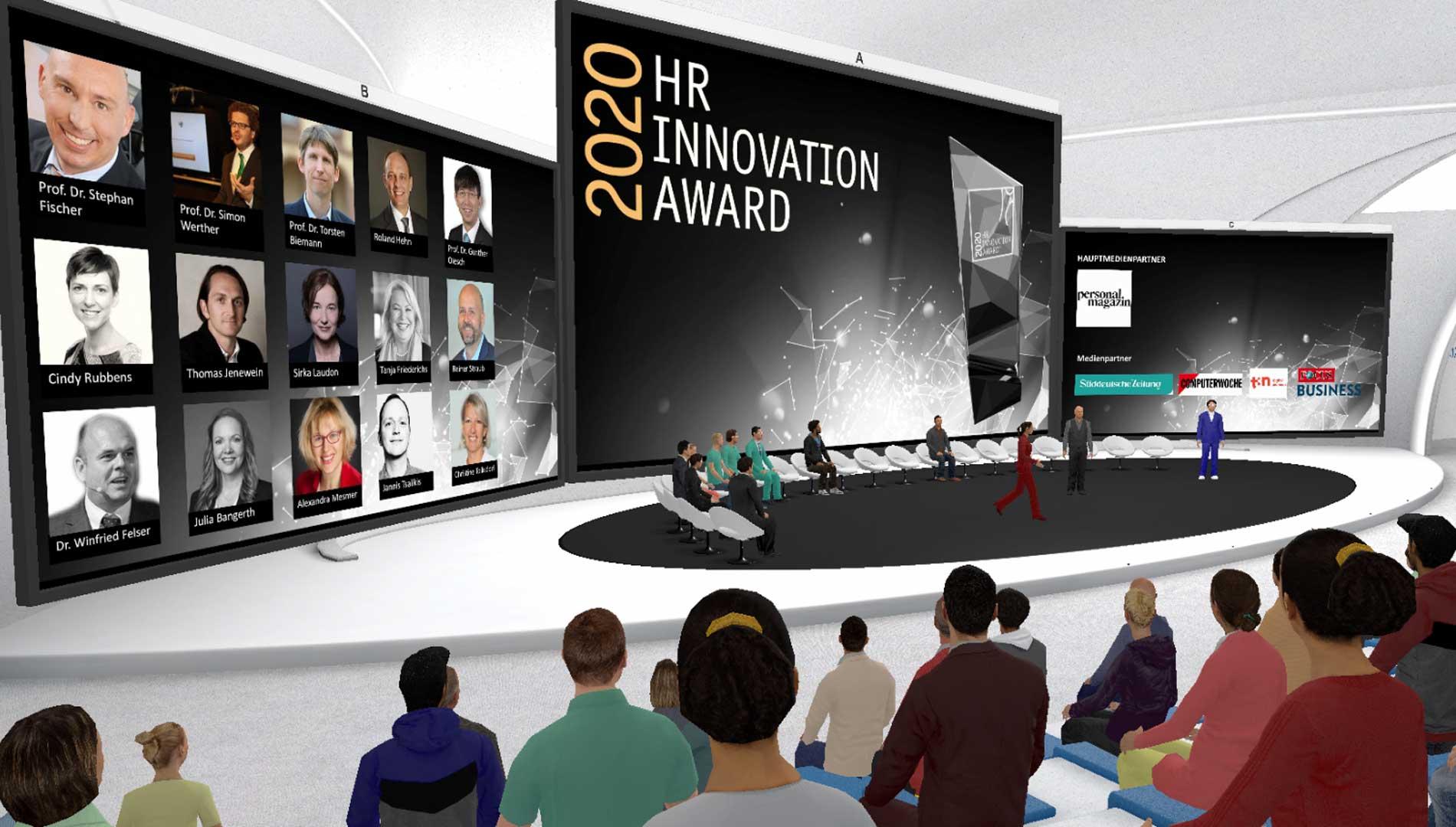 TriCAT spaces Congress   Virtuell-immersive Eventumgebung / Foto: TriCAT GmbH 2020