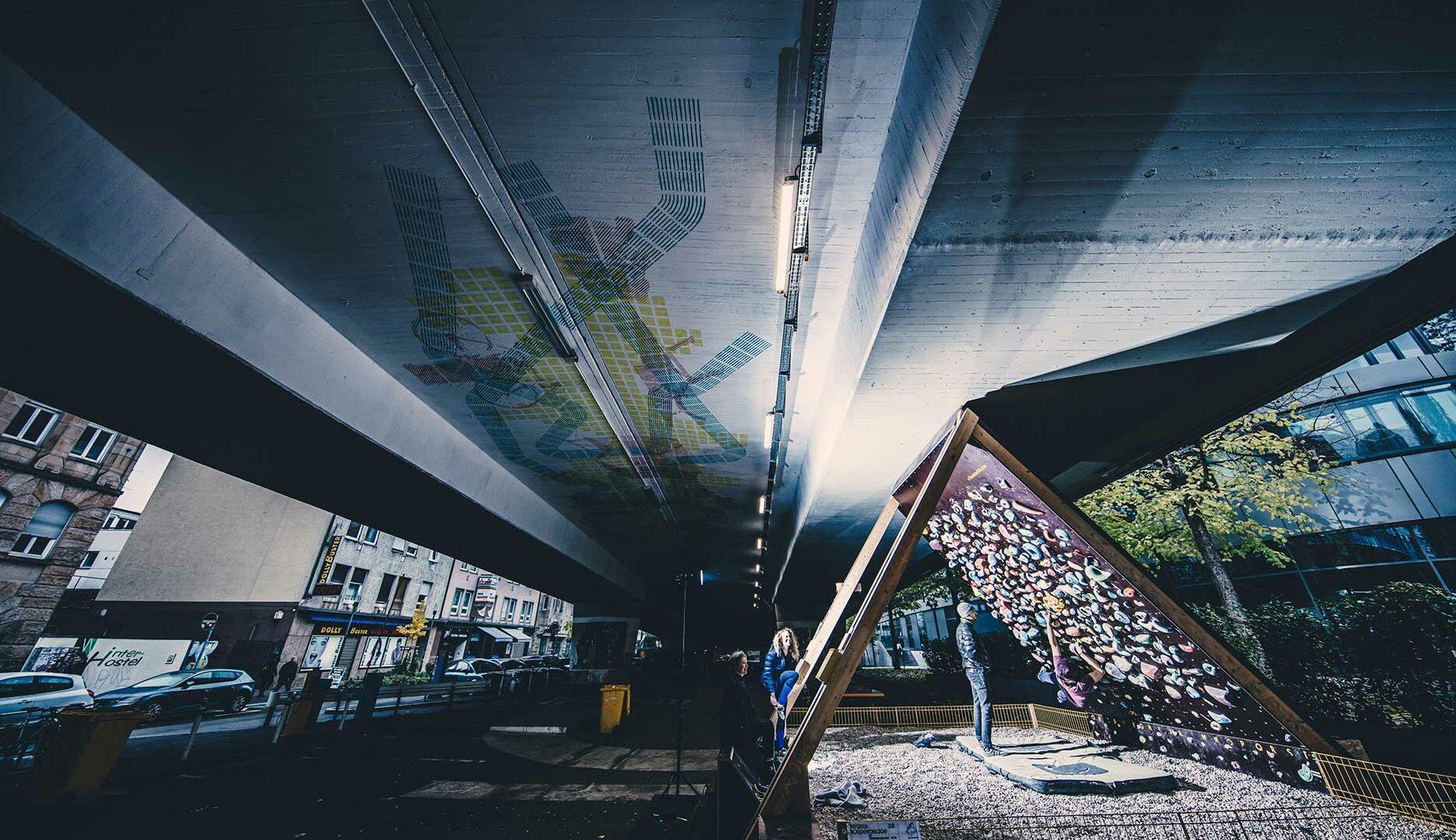 Das boulderblöckle belebt urbanen Raum – für alle, immer, kostenlos / Foto: Simon Hofmann